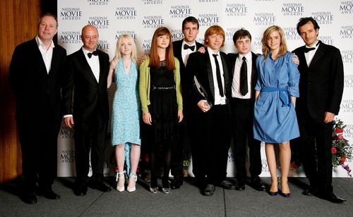 harry potter wallpaper containing a business suit entitled Old HP foto - Cast and Crew :))