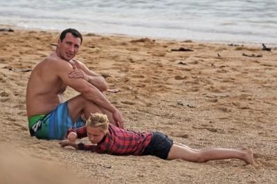 Hayden out in Hawaii