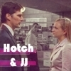 Hotch & JJ photo probably containing a business suit and a portrait entitled Hotch & JJ