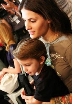 Isabeli with her son Lucas
