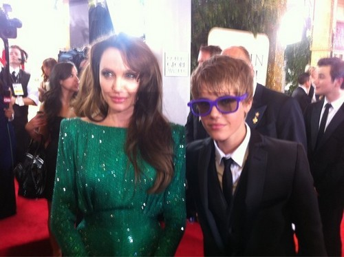 JUSTIN BIEBER AND ANGELINA JOLIE