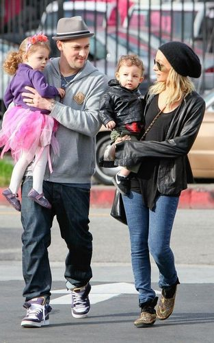Nicole Richie wallpaper containing a street titled January 11 - Nicole Richie and Joel Madden with their kids out in L.A.