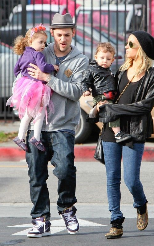 Joel Madden And Nicole Richie And Kids. January 11 - Nicole Richie and