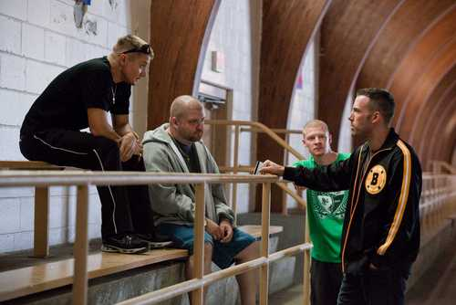 Jeremy Renner, Ben Affleck, Owen Burke & Slaine in The Town