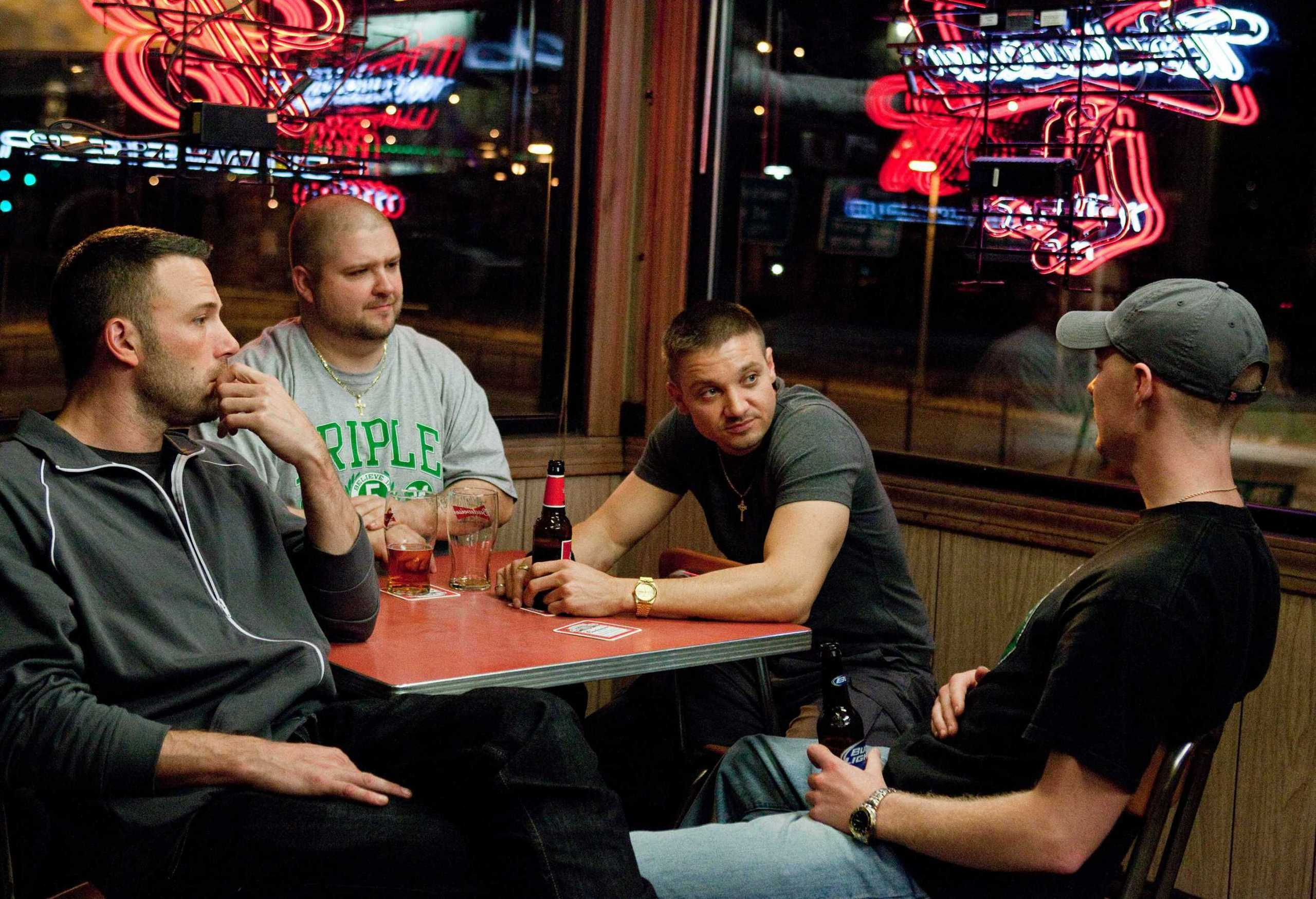 Jeremy Renner, Ben Affleck, Owen Burke & Slaine in The Town