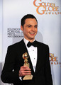 Jim Parsons in the 2011 Golden Globe Press Room