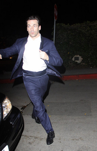 Jon Hamm arriving at chateau, schloss Marmont - After Party