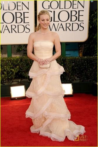 Kaley @ 2011 Golden Globe Awards