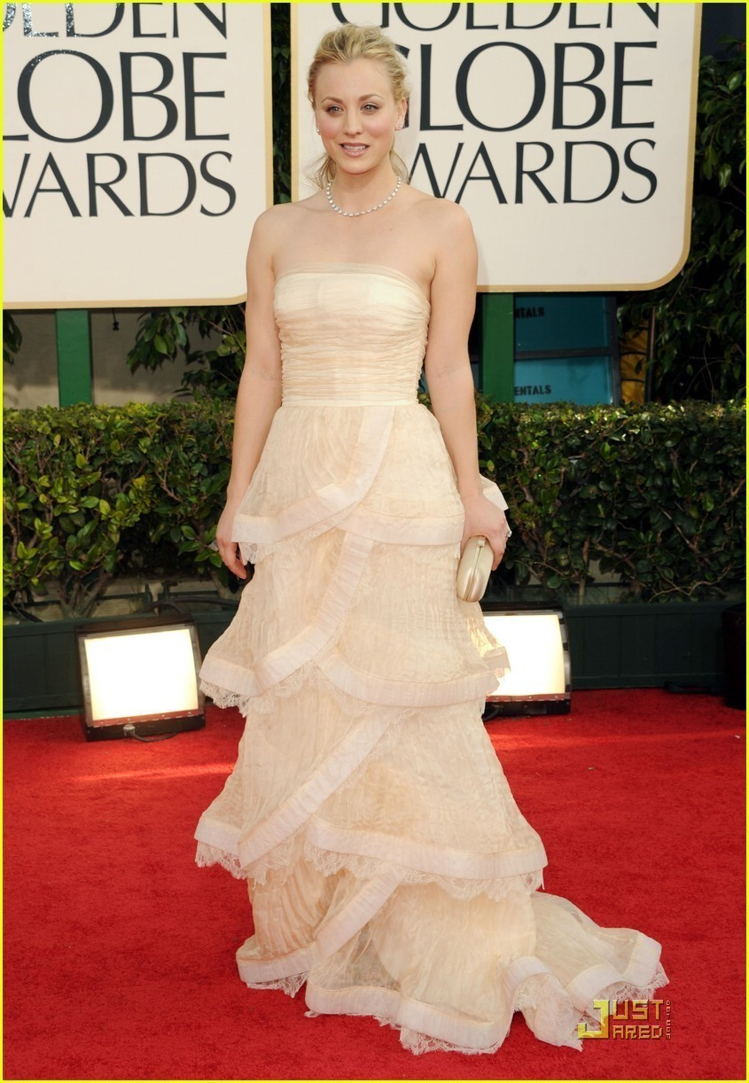 Kaley @ 2011 Golden Globe Awards