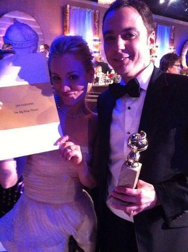 Kaley & Jim @ 2011 Golden Globe Awards