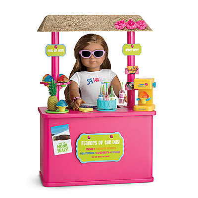 American Girl Dolls wallpaper containing sunglasses titled Kanani's Shave Ice Stand & Aloha Outfit