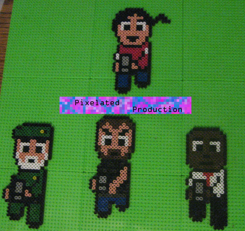 Left 4 Dead fondo de pantalla titled L4D Bead Art por Pixelated Production