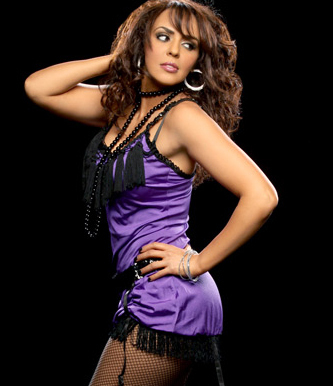 Diva WWE kertas dinding with a koktel dress called Layla El