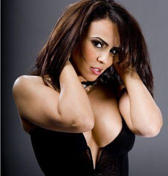 Diva WWE kertas dinding containing attractiveness, a portrait, and skin titled Layla El