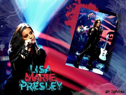 Lisa Marie Presley kertas dinding