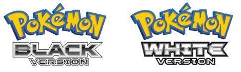 Logos for Pokemon Black and White