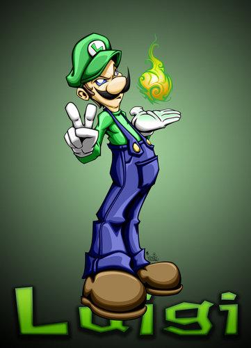 Luigi wallpaper with anime titled Luigi