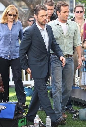 Luke Perry w/Jason Priestley