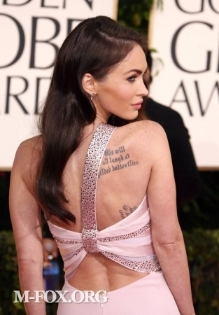 megan fox 2011 golden globes dress. megan fox 2011 golden globes