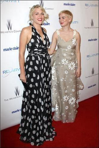 Michelle Williams & Busy Philipps - (Golden Globe After Party 2011)
