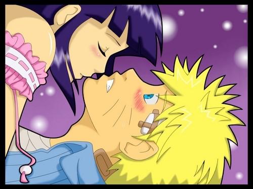 NaruHina kiss (blushing Naruto)