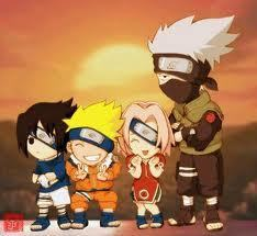 Chibi wallpaper titled Naruto, Sasuke, Sakura, and Kekaishi