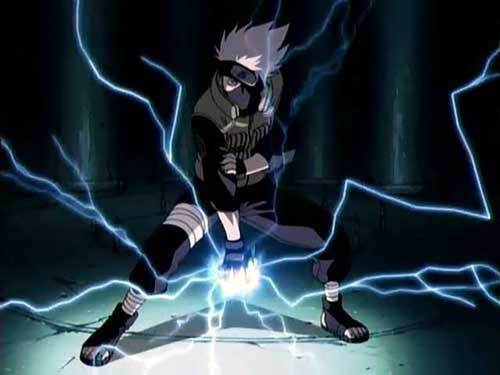 Kakashi Hatake Using the Lightning Blade