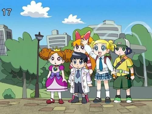 powerpuff girls Z wallpaper containing anime entitled PPGZ, Ken and Himeko