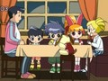 PPGZ dinner at a restaurant - powerpuff-girls-z screencap