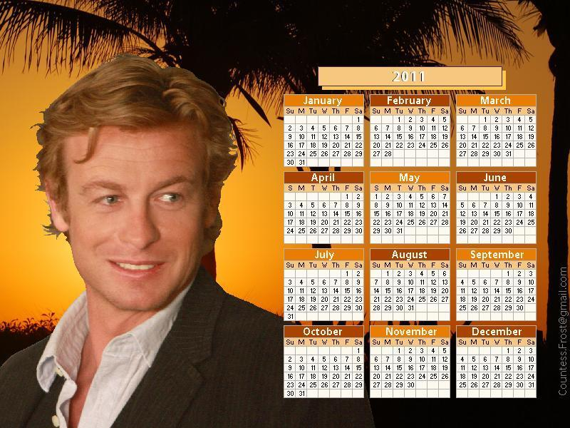 Patrick Jane 2011 calendar The Mentalist Wallpaper 18510542 Fanpop