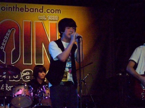 Performing with band!