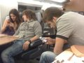 Pique and Puyol on the way to Shakira concert in Frankfurt. (8 th Dec 2010. )