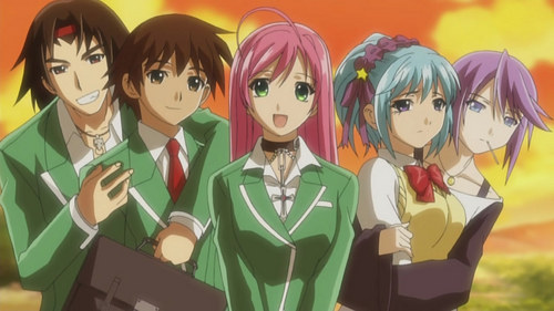 Rosario Vampire wallpaper titled Rosario+Vampire Friends forever!