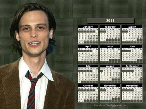Spencer Reid - 2011 calendar