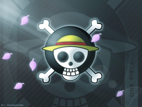 One Piece wallpaper possibly with a roulette wheel, a stained glass window, and a compact disk called Straw Hat Pirate Logo