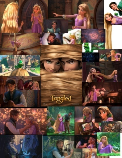Tangled collage