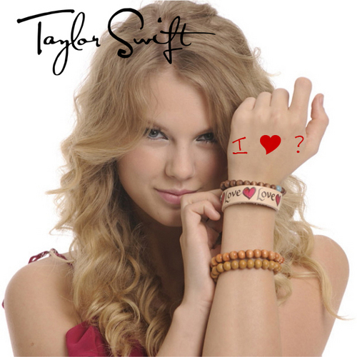 Taylor Swift - I Heart Question Mark [My FanMade Single Cover]