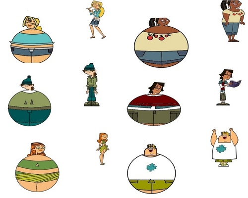 Total Drama Island Hintergrund titled Tdi Fat cast 2????