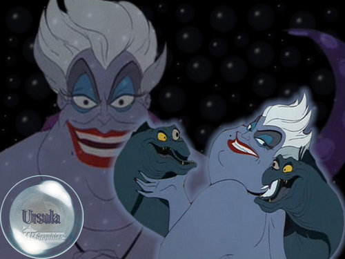 Disney Villains achtergrond containing anime titled Ursula