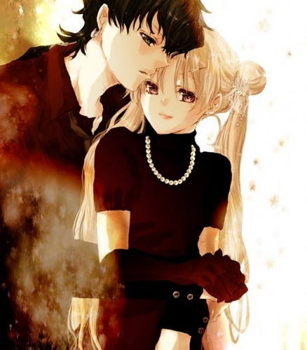 Sailor Moon Hintergrund titled Usagi+Seiya