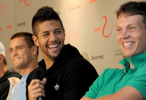 VERDASCO AND BERDYCH SMILE
