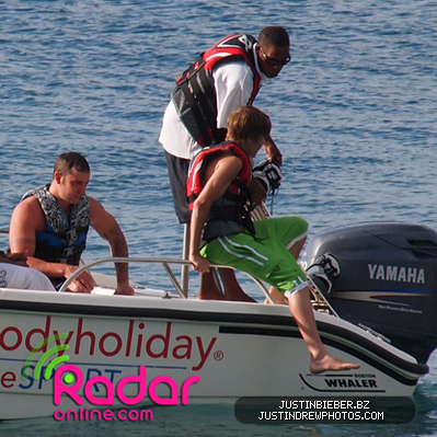 Wakeboarding with Lil Twist in St. Lucia on Jan 11