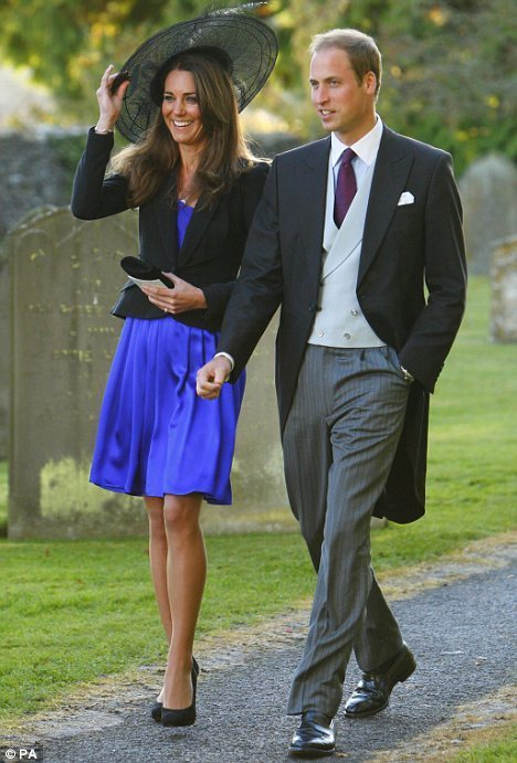 William and Kate in Royal Blue