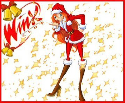 Bloom 壁纸 possibly containing 日本动漫 entitled Winx Bloom Merry Christmas!