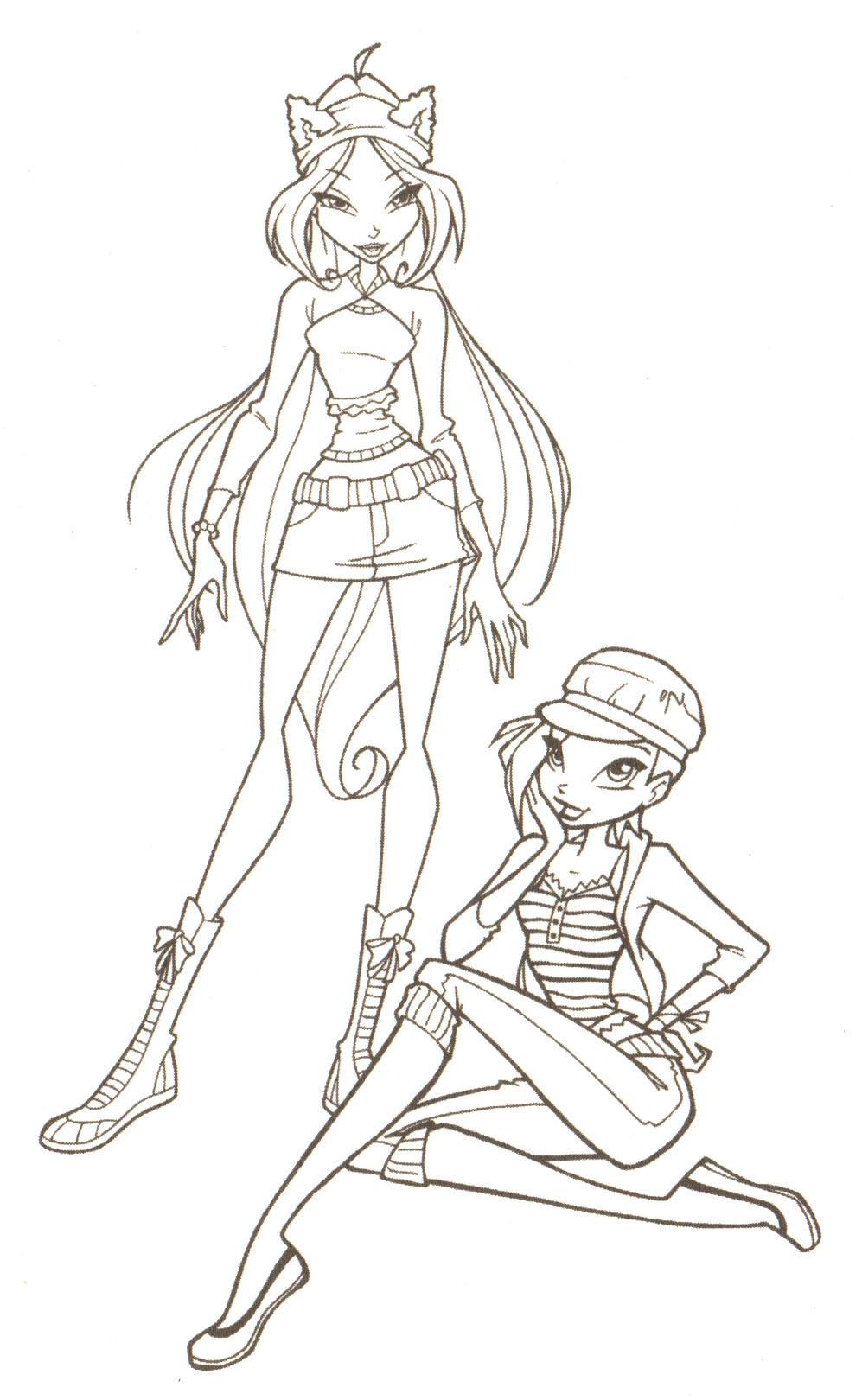Winx и аниме раскраски (Coloring) +онлайн раскраска!