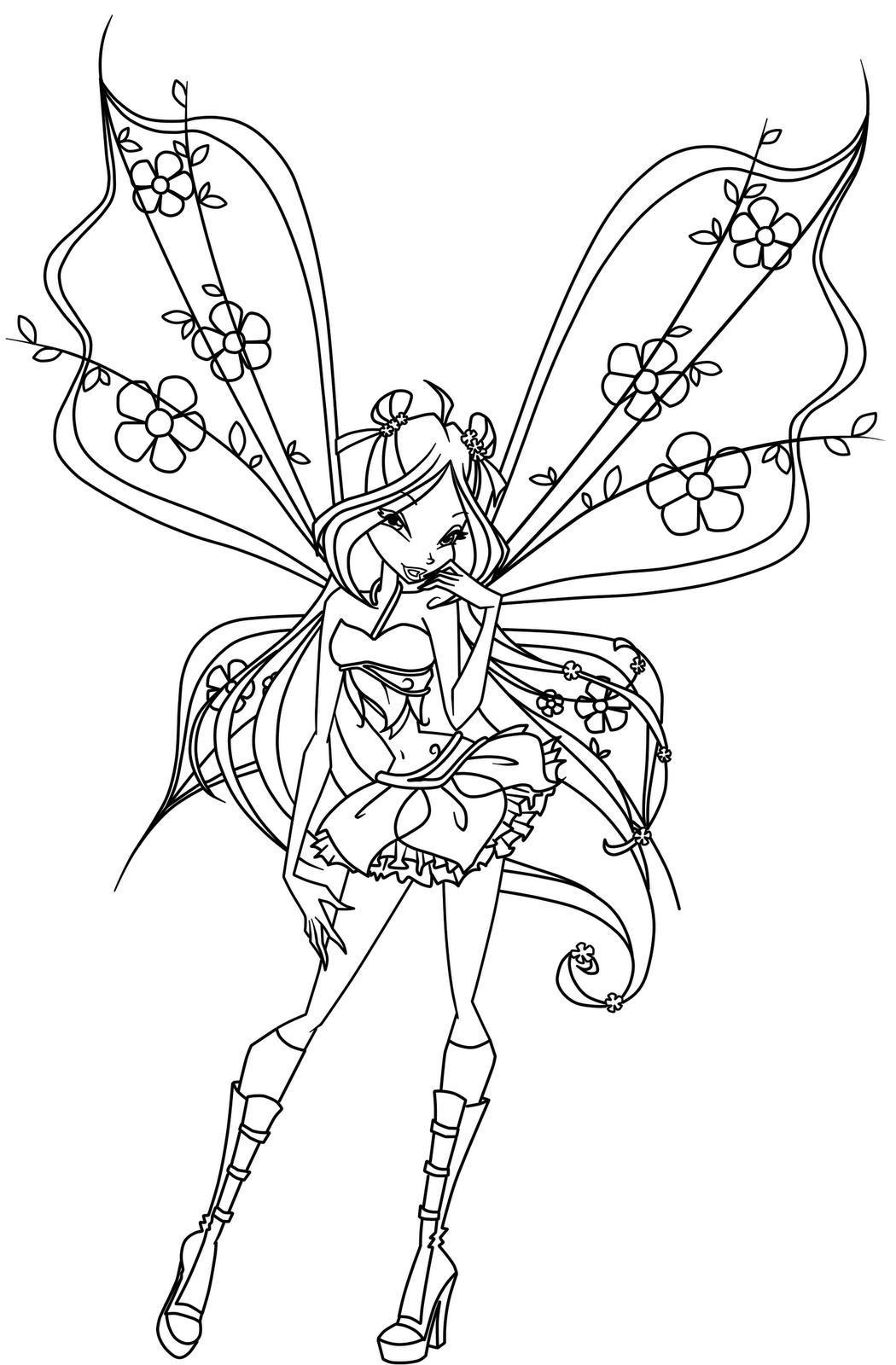 Winx Club Coloring Pages Winxclub Photo 18537763 Fanpop Winx Club Coloring Pages Flora