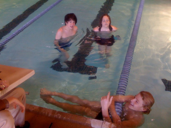 in between pool takes.