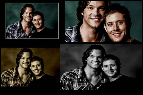 Jensen Ackles wallpaper with anime entitled jensen ackles and jared padalecki love