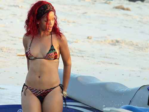 Rihanna wallpaper with a bikini called riri