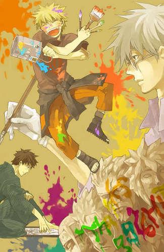 Kakashi, Yamato and Naruto
